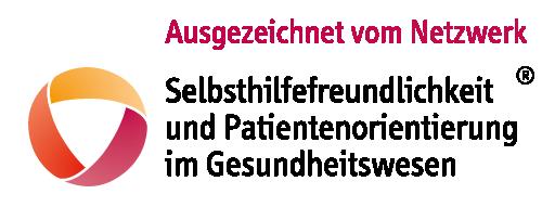 Diese Abbildung zeigt das Logo zur Auszeichnung als selbsthilfefreundliche Gesundheitseinrichtung